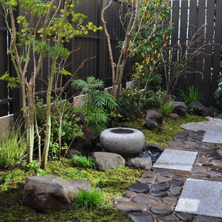 東京23区の和風のおしゃれな庭・ランドスケープの写真