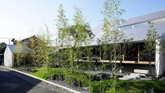 長和川の二世帯住宅
