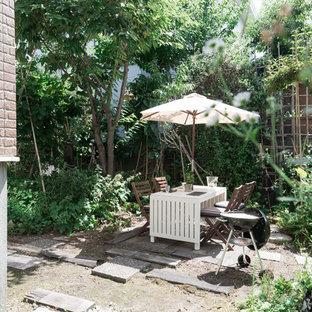 札幌のコンテンポラリースタイルのおしゃれな庭 (日向) の写真