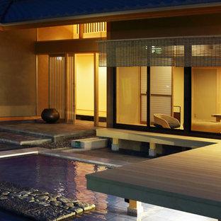 名古屋のアジアンスタイルのおしゃれな庭 (天然石敷き) の写真
