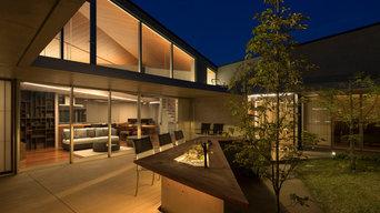 RIDGE | 中庭夜景