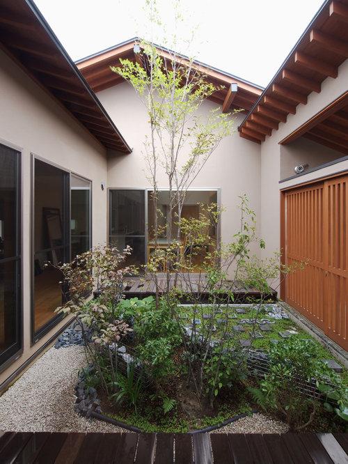 jardin asiatique avec une cour photos et id es d co de. Black Bedroom Furniture Sets. Home Design Ideas