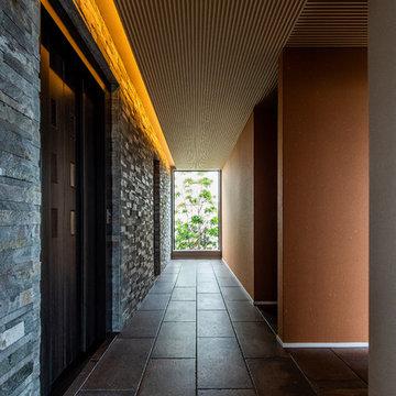 モダンな雰囲気の廊下