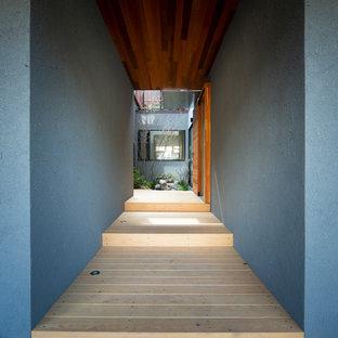 京都のコンテンポラリースタイルのおしゃれな廊下の写真