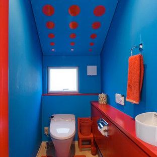 東京23区のコンテンポラリースタイルのおしゃれな浴室の写真