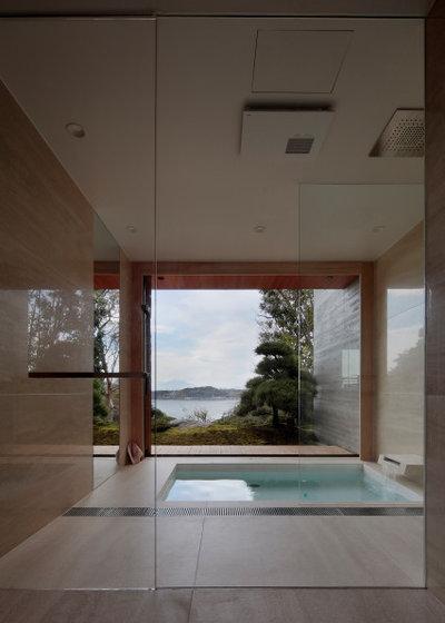 和室・和風 浴室 by CUBO design architect