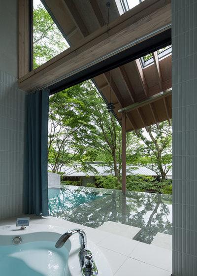 モダン 浴室 by 津野建築設計室/troom