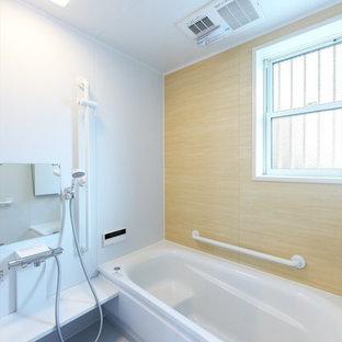 東京都下の和風のおしゃれな浴室の写真