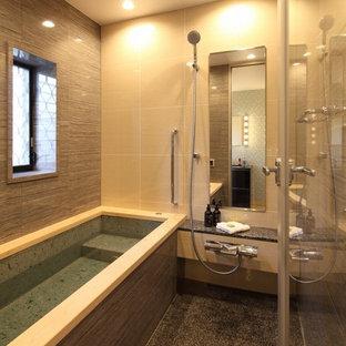 東京23区の和風のおしゃれな浴室の写真