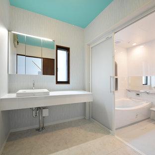 他の地域, の地中海スタイルのおしゃれな浴室の写真
