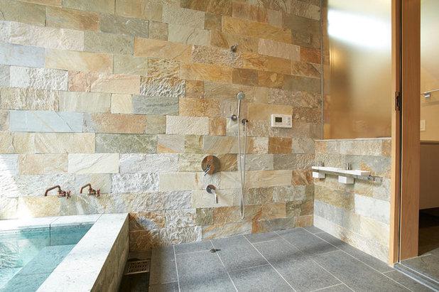 コンテンポラリー 浴室・バスルーム by ミナトデザイン1級建築士事務所