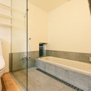 大阪の和風のおしゃれな浴室の写真