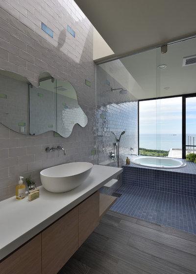 コンテンポラリー 浴室 by 建築設計事務所Mof