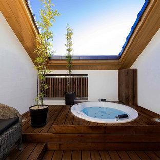 和風のおしゃれな浴室の写真