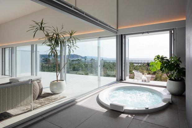 ビーチスタイル 浴室・バスルーム by 田井勝馬建築設計工房