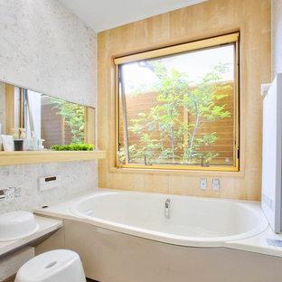 大阪の北欧スタイルのおしゃれな浴室の写真