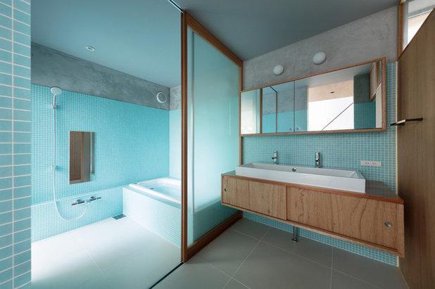 Piastrelle azzurre per bagni che infondono tranquillità