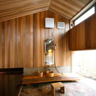 他の地域の和風のおしゃれな浴室の写真