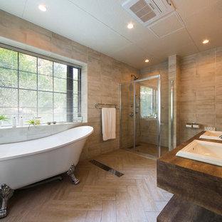 名古屋のトラディショナルスタイルのおしゃれな浴室の写真