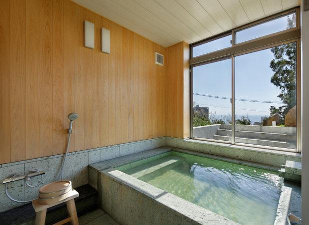 コンテンポラリー 浴室 by 株式会社 カクオ・アーキテクト・オフィス