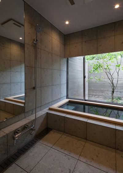 アジアン 浴室 by 株式会社岸研一建築設計事務所