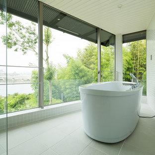 他の地域のアジアンスタイルのおしゃれな浴室の写真