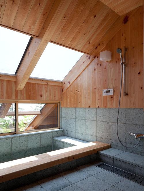 Asiatische badezimmer mit eckbadewanne ideen design for Badezimmer ideen mit eckbadewanne