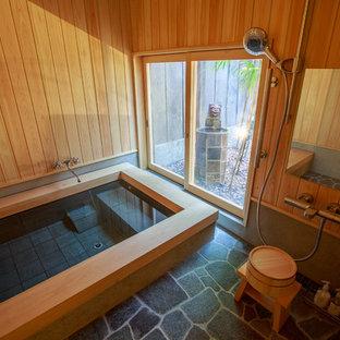 京都の和風のおしゃれな浴室の写真