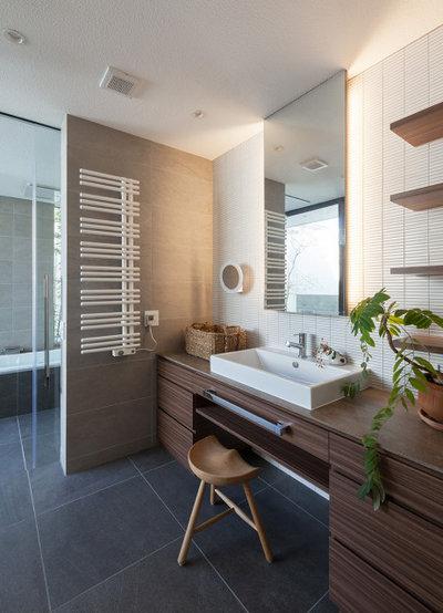コンテンポラリー 浴室 by Architect6建築事務所