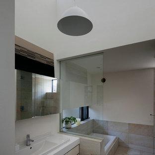 Bathroom   Rustic Bathroom Idea In Tokyo Suburbs