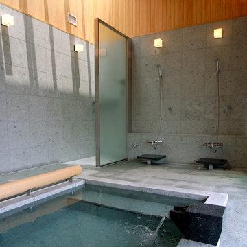 雷山の別荘 温泉浴室