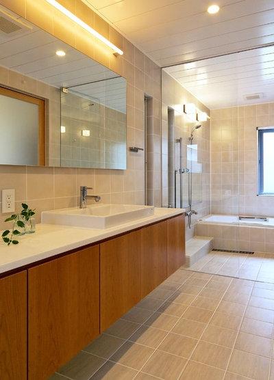コンテンポラリー 浴室 by User