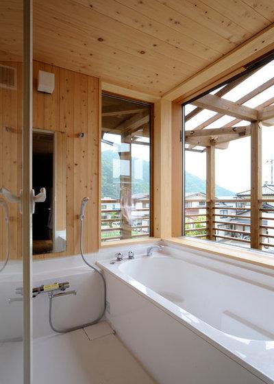 和室・和風 浴室 by 下﨑建築設計事務所