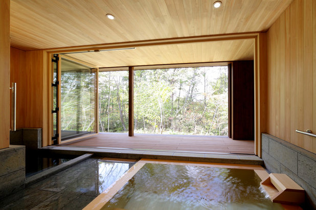 和室・和風 浴室 by 菊池ひろ建築設計室 kikuchihiro design office