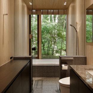 他の地域のミッドセンチュリースタイルのおしゃれな浴室の写真