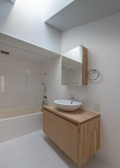 モダン 浴室 by 京都の建築家 森田一弥建築設計事務所