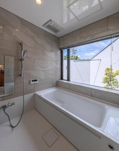 コンテンポラリー 浴室 by 光崎敏正建築創作所