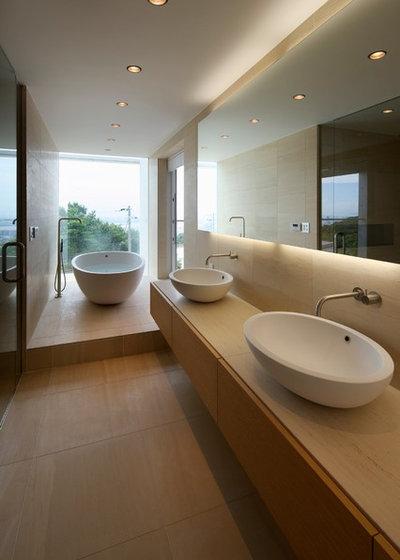 モダン 浴室 by 建築設計事務所バケラッタ