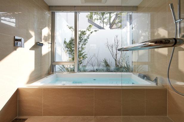 モダン 浴室 by M アーキテクツ