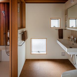 東京都下のアジアンスタイルのおしゃれなマスターバスルームの写真