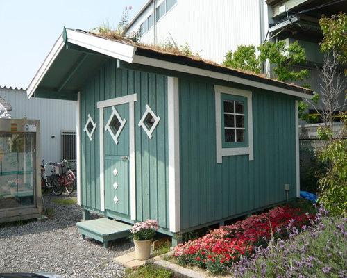 Skandinavisches gartenhaus ideen design bilder houzz - Skandinavisches gartenhaus ...