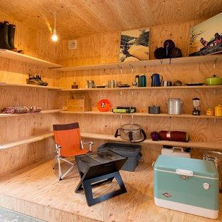 他の地域のビルトインアジアンスタイルのおしゃれな物置小屋・庭小屋の写真