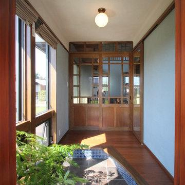 サンルームのような玄関