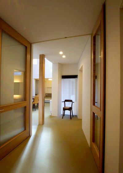 玄関 by アウラ建築設計事務所