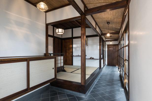 和室・和風 玄関 by かわかみ建築設計室