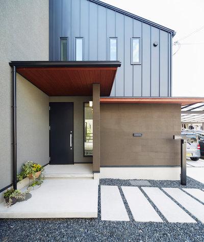 コンテンポラリー 玄関 by 株式会社 アキムラフライング・シー 一級建築設計事務所