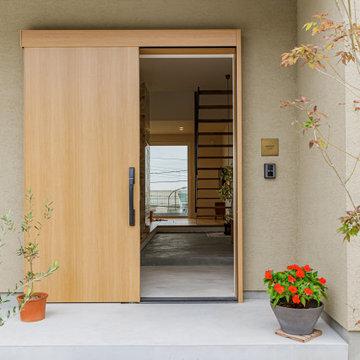 家の中心となる玄関土間