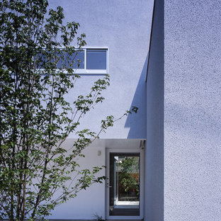 Inspiration for a modern entryway remodel in Tokyo Suburbs with a glass front door