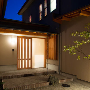 Inspiration for a zen entryway remodel in Other
