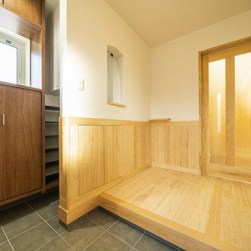 桧と不織布の自然素材の健康住宅